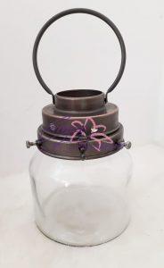 Glazen pot voor bloem of plantje