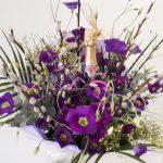 Champagneboeket paars